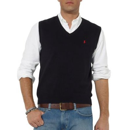 b77d0300 Pima Cotton V-Neck Sweater Vest