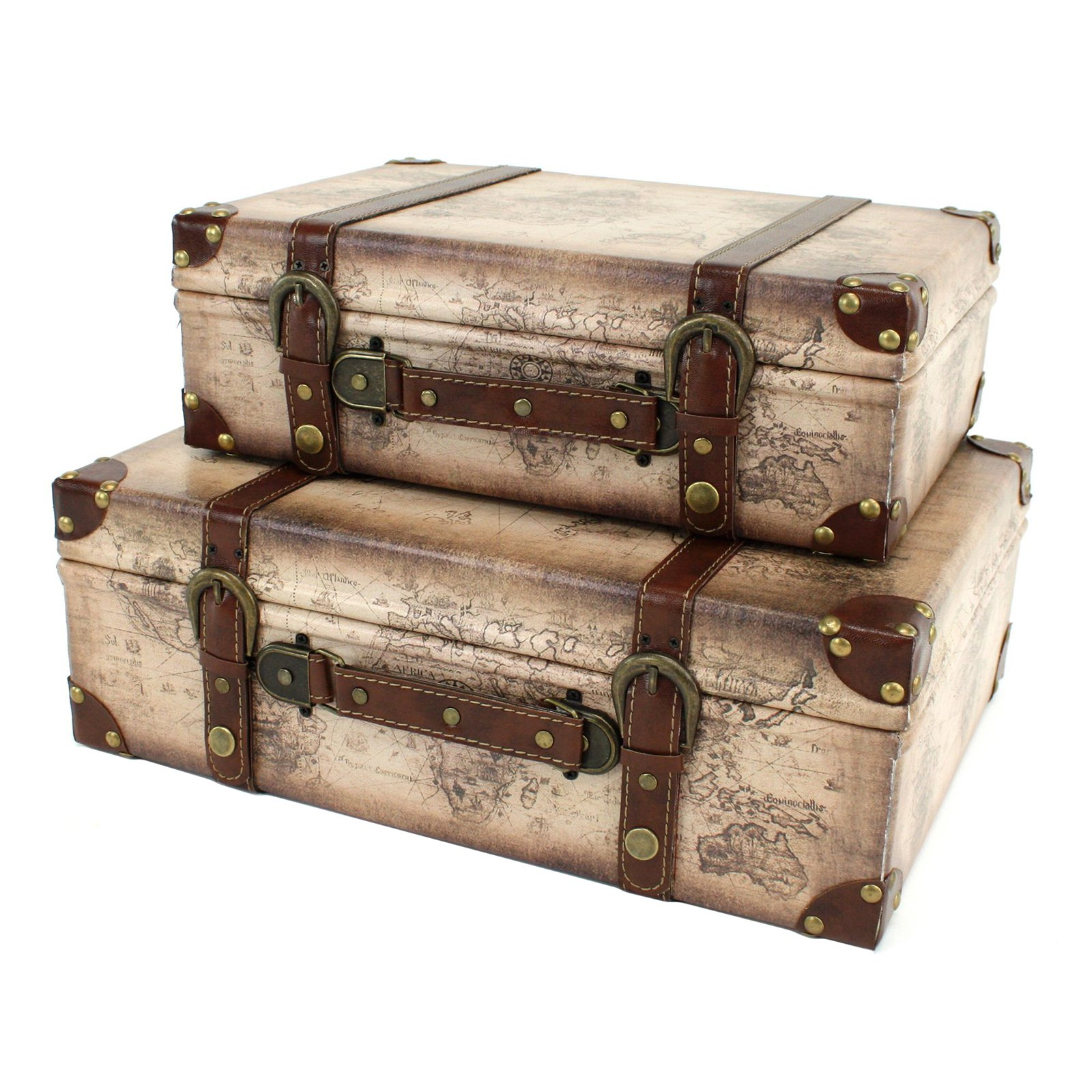 Aspire Home Accents Windsor Suitcase Trunks - Set of 2