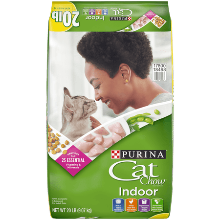 Purina Cat Chow Hairball, Healthy Weight, Indoor Dry Cat Food, Indoor - 20 lb.