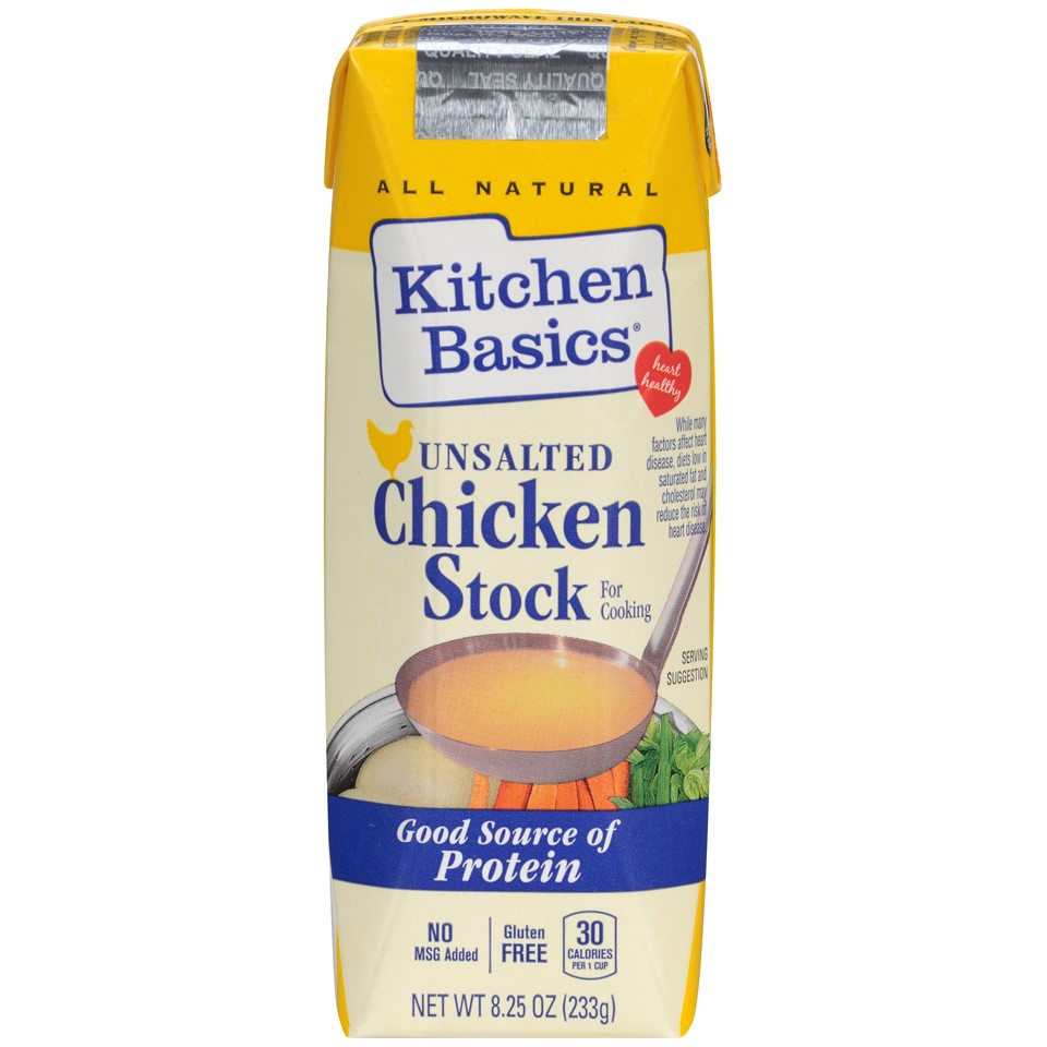 Kitchen Basics Natural Stock, Unsalted Chicken, 8.25 Oz