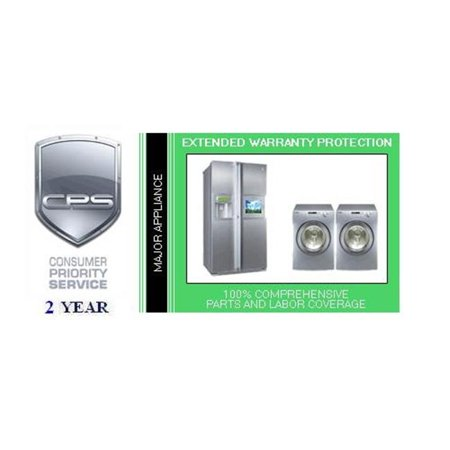 Consumer Priority Service LGAP2500 2 Year Major Appliance under $500.00- INHOME Covers dishwashers  washing machines  dryers  refrigerator/freezers  ice makers  trash compactors  ovens  ranges  cooktops  vent hoods  Air Conditioners  Portable Heaters  Humidifiers  etc.- SKU: CPS649