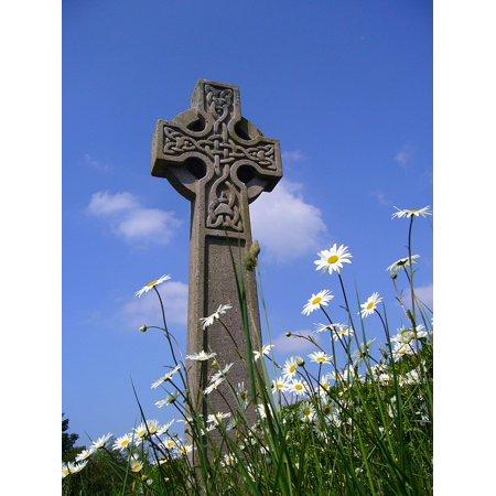 LAMINATED POSTER Symbol Celtic Christianity Memorial Monument Cross Poster Print 24 x 36