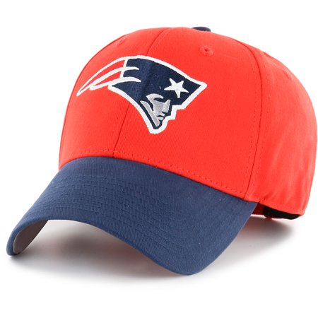 Youth Fan Favorite Red/Navy New England Patriots Two-Tone Adjustable Hat - OSFA