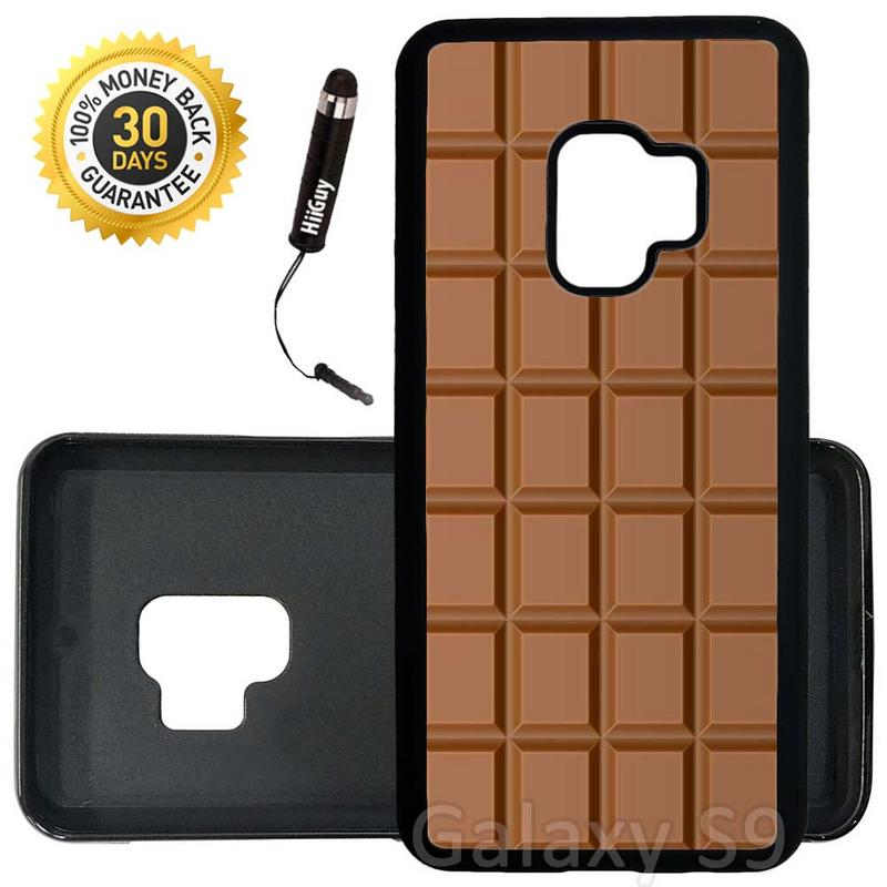 Custom Galaxy S9 Case (Chocolate) Edge-to-Edge Rubber Black Cover Ultra Slim | Lightweight | Includes Stylus Pen by Innosub