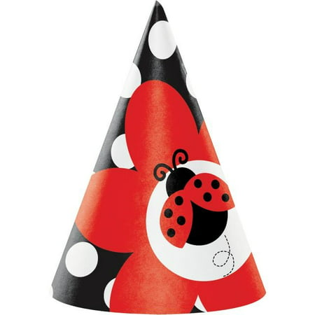 Access Ladybug Fancy Child Size Paper Party Hats, 8 Ct](Fancy Paper)