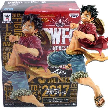 Banpresto World Figure Colosseum Champion One Piece Monkey D Luffy 6 Statue