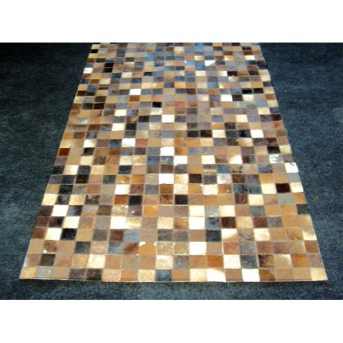Modern Rugs Patchwork Static Brown Area Rug