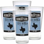 Personalized Home State Pub Glasses, Set of 4