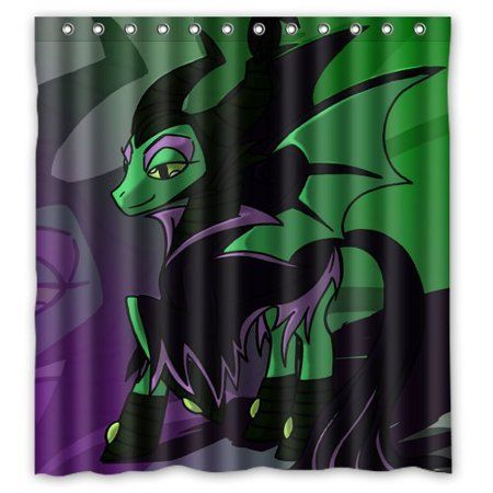 DEYOU My Little Pony Maleficent Shower Curtain Polyester Fabric Bathroom Size 66x72 Inches