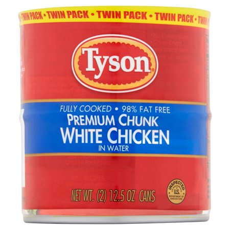 Tyson Premium Chunk White Chicken In Water Twin Pack  2 Count  12 5 Oz