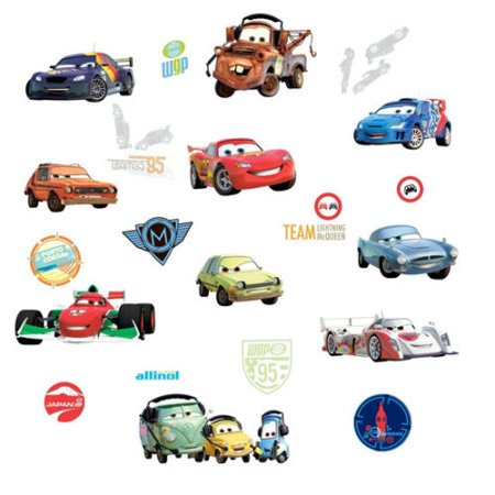 Disney CARS 2 MOVIE WALL DECALS Lightning McQueen Mater Stickers Decor - Disney Car Decals