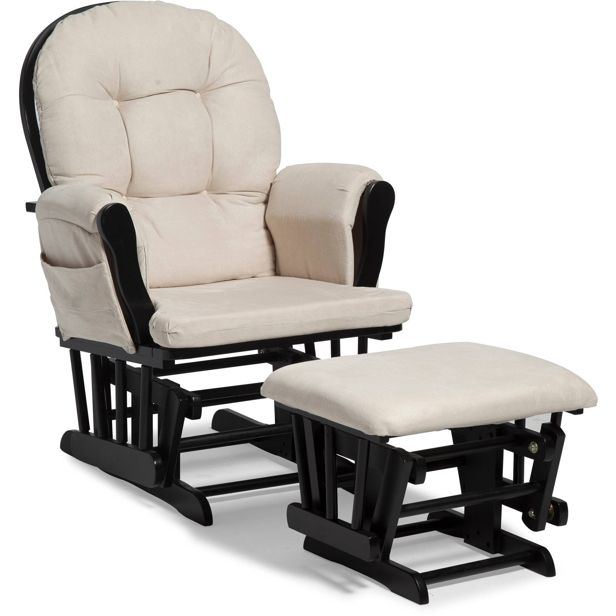 Baby glider chair - Storkcraft Hoop Glider And Ottoman Black With Beige Cushions