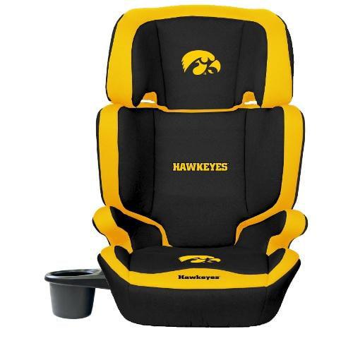 NCAA High Back Booster Seat by Lil Fan, 2-in-1 - Iowa Hawkeyes