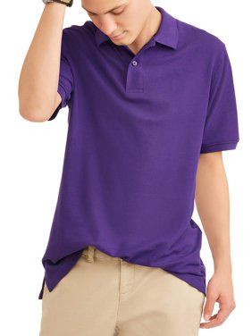 Wonder Nation Young Men's Short Sleeve Double Pique Polo