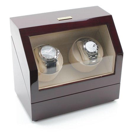 Battery Powered Dual Watch Winder - Cherry ()