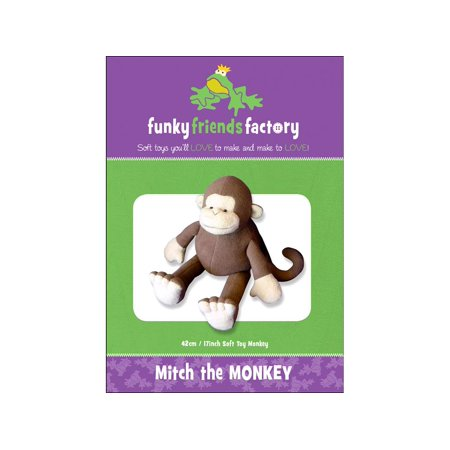 Funky Monkey Flannel - Funky Friends Factory Mitch the Monkey Ptrn