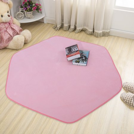 Ymiko Kids Play Tent House Rugs Mats Area Rugs Soft Coral velvet Rug for Living Room,kids play tent rugs