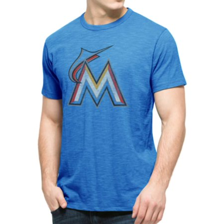 Miami Marlins 47 Brand Glacier Blue Soft Cotton Scrum T-Shirt by