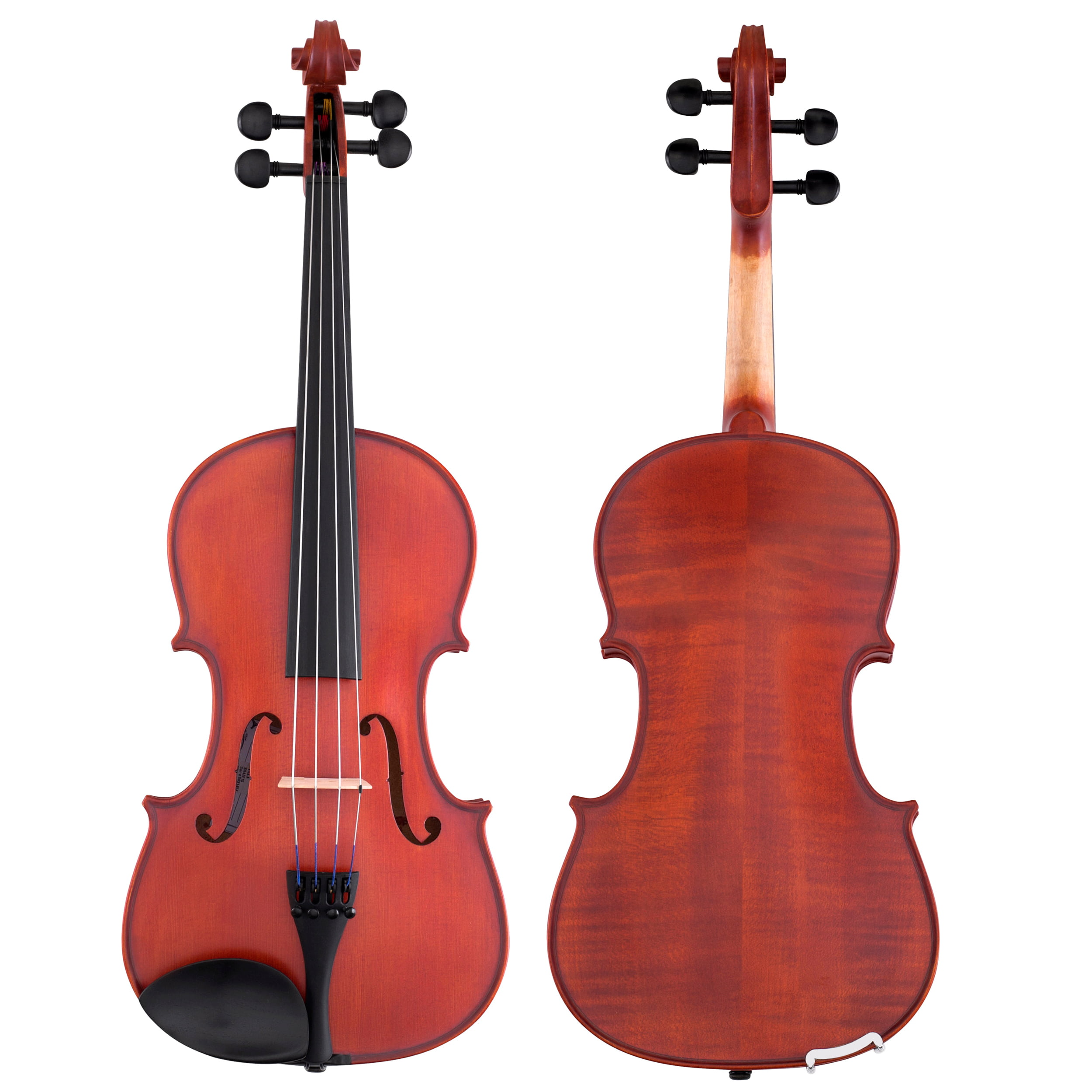 """Sandner SA-4 15/"""" Viola Outfit with Case and Bow Helicore Strings Aubert Bridge"""