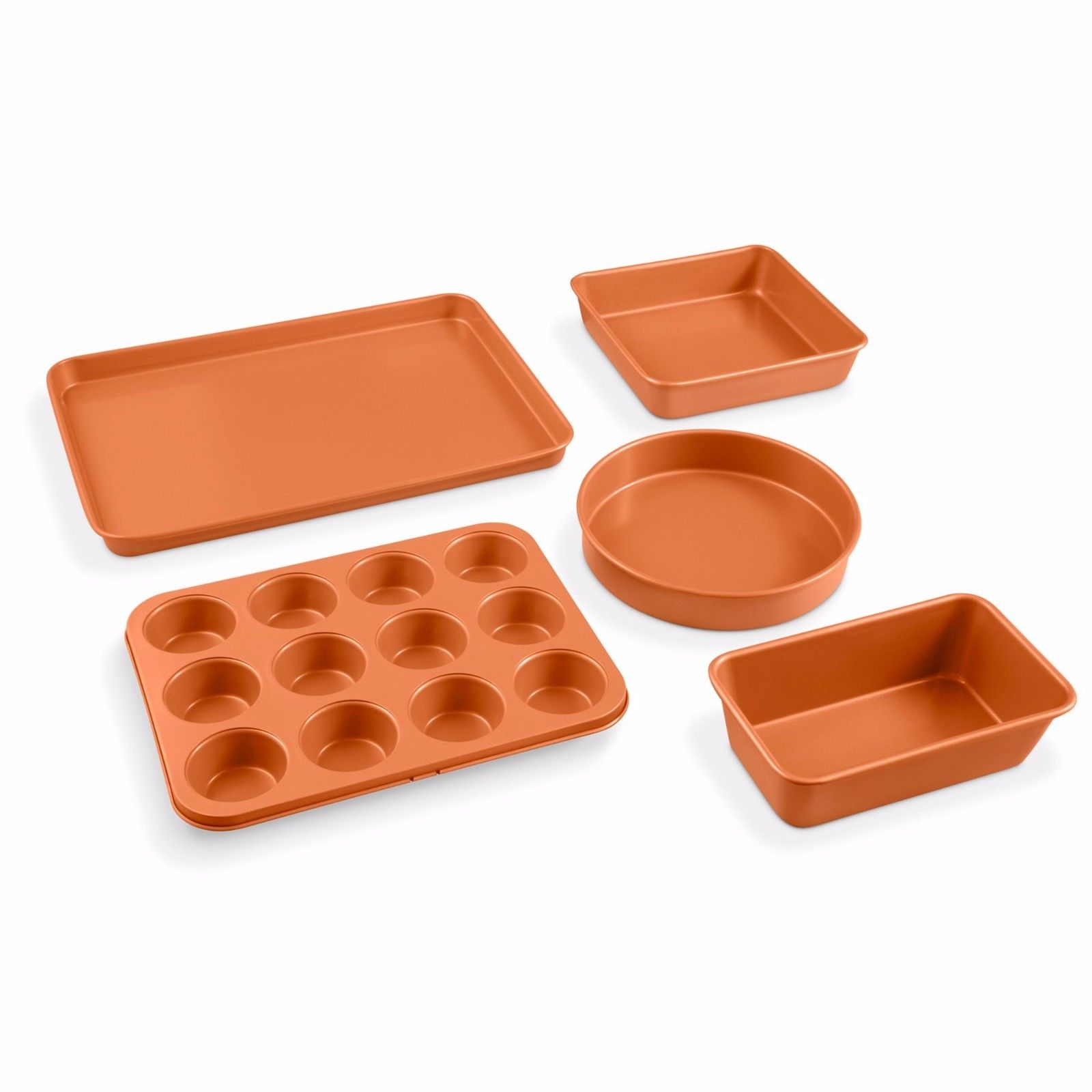 Gotham Steel 5 Piece Copper Bakeware Set with Nonstick Ti-Cerama Coating, As Seen on TV