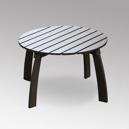 York Round Adirondack Side Table, Weathered Grey ()