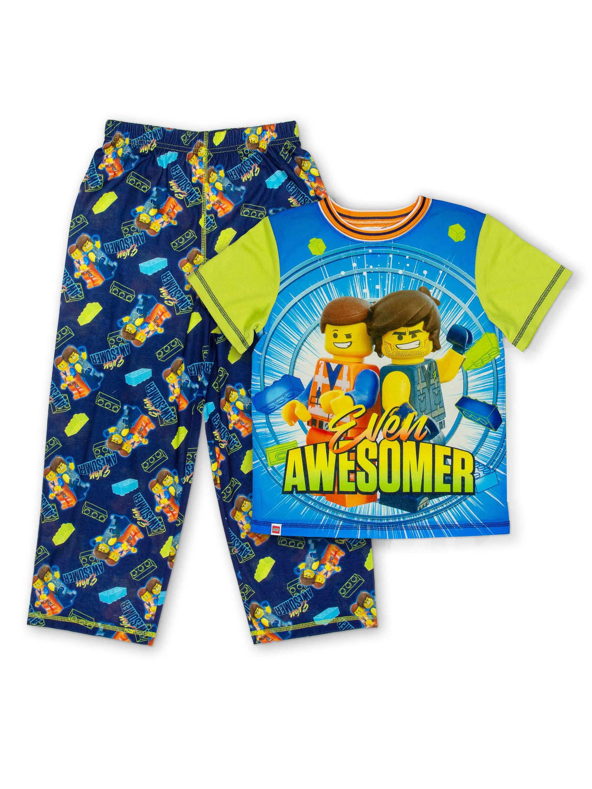 Boys' Lego Movie 2 2 Piece Pajama Sleep Set (Little Boy & Big Boy)