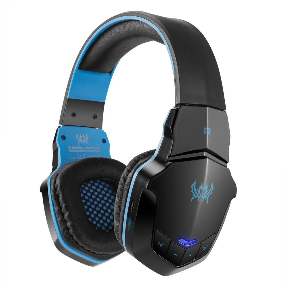 Kotion Each B3505 Gaming Headset Wireless Bluetooth Headphone Bluetooth 4 1 Over Ear Stereo Music Earphone With Mic For Iphone7 6 Plus Samsung Tablet Pc Black With Blue Walmart Com Walmart Com