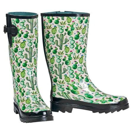 7e9f4bec74a M&F Western Womens Cactus Print Rain Boots