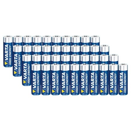 varta aa battery 40 pack high energy aa batteries. Black Bedroom Furniture Sets. Home Design Ideas