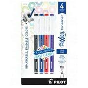 Pilot FriXion Fineliner Erasable Marker Pen, Fine Point, 0.6mm, Assorted Colors, Pack of 4