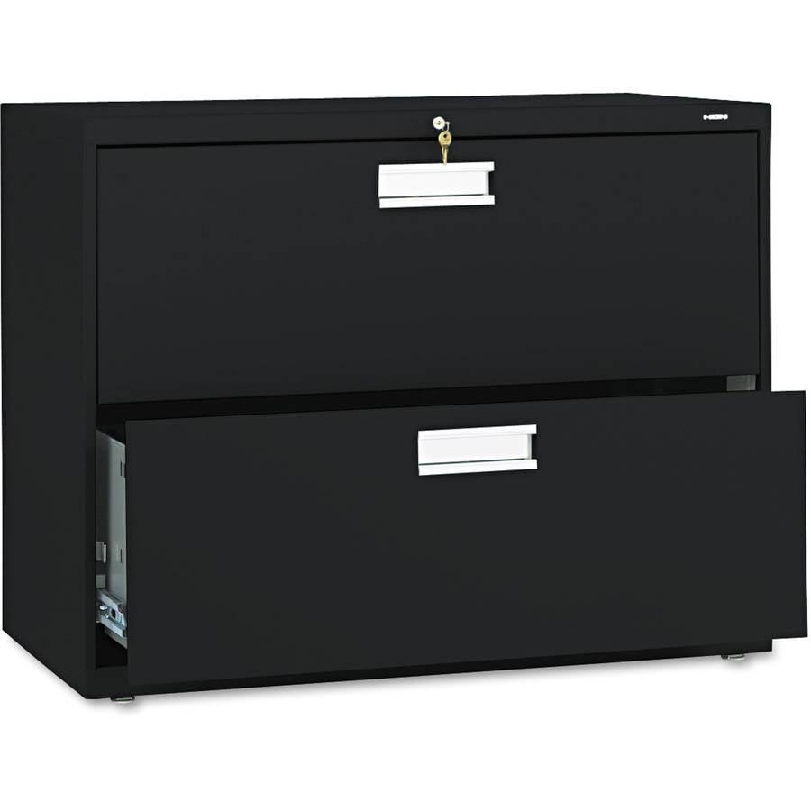 HON 600 Series Lateral File, Black