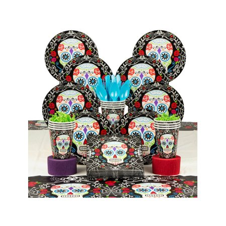 Day of the Dead Deluxe Halloween Party Supplies Kit (Serves 18) (Halloween Under 18 Parties London)