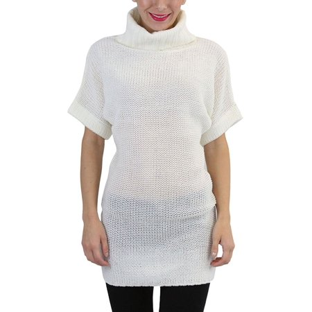 2eee5e7b27b Tobeinstyle - ToBeInStyle Women's Heavy Knit Sweater Tunic with Wide ...