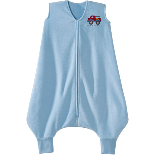 HALO Big Kids SleepSack Wearable Blanket, Microfleece, Blue Truck, 2T-3T