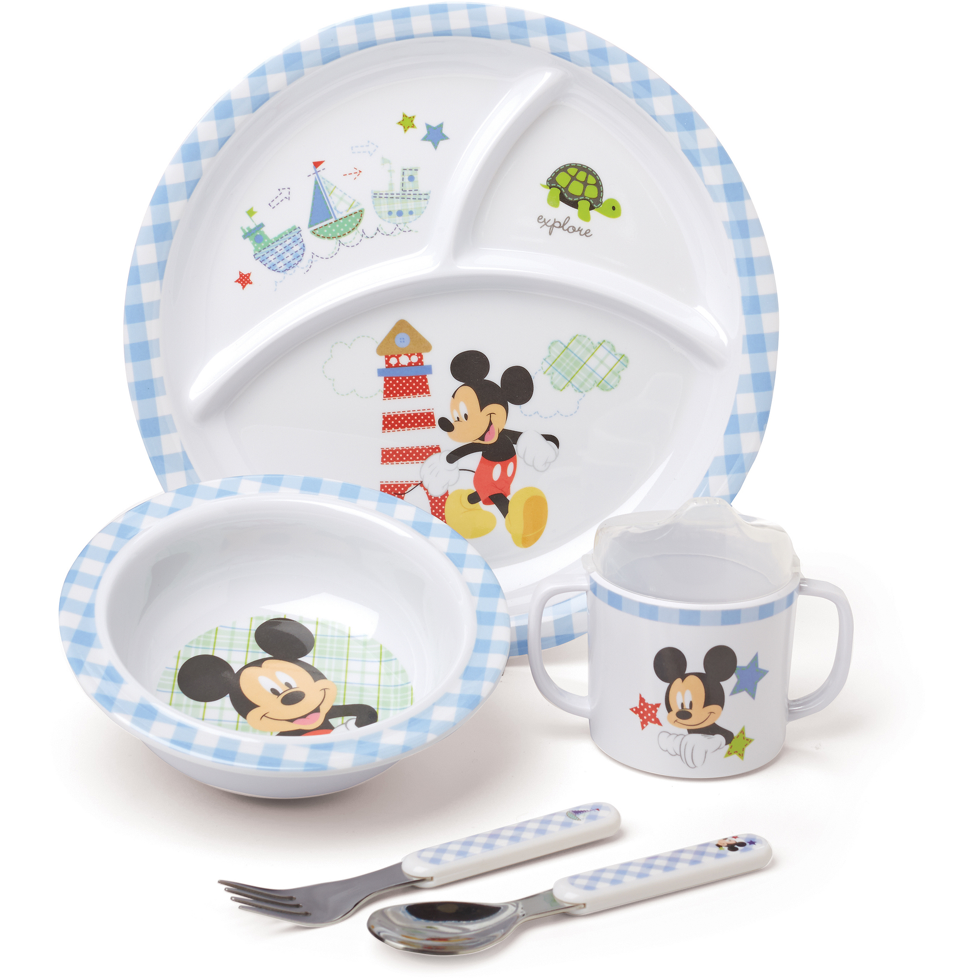Disney Baby Mickey Mouse Melamine Set, BPA-Free