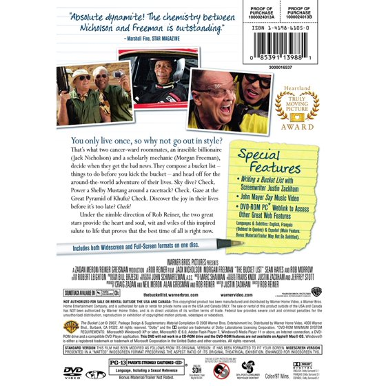 The Bucket List (DVD) - Walmart com