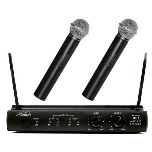 Audio2000 6032U UHF Dual Channel Wireless Microphone 2 Handheld by