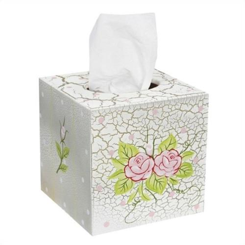 Teamson W-7300AR Girls Tissue Cover - Crackled Rose Room Collection