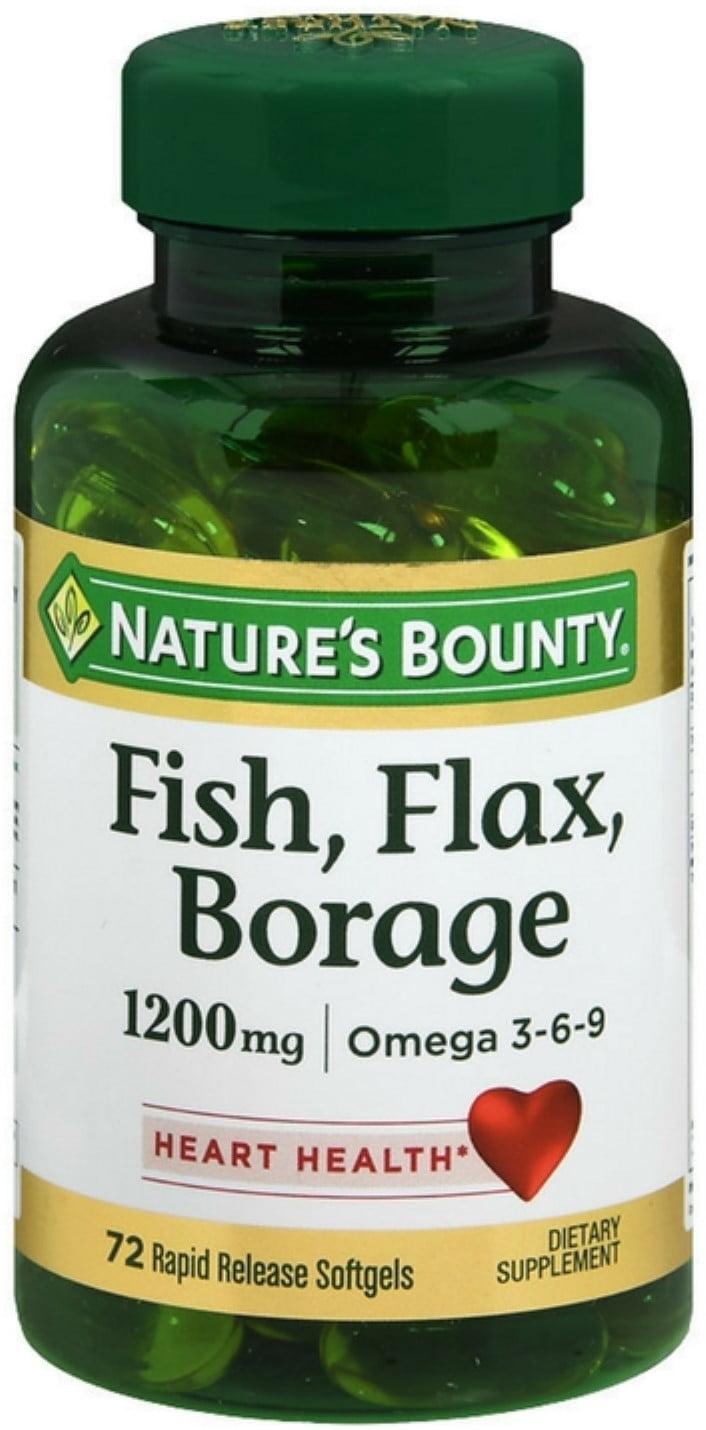 2 Pack Nature S Bounty Fish Flax Borage 1200 Mg Omega 3 6 9