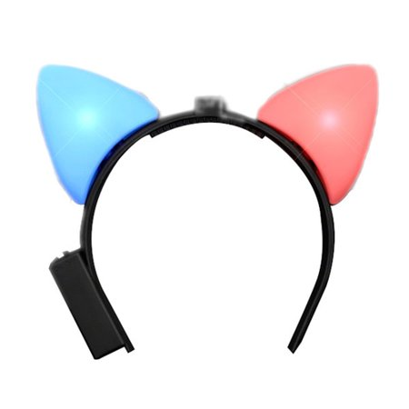 LED Animal Ears Red And Blue Flashing
