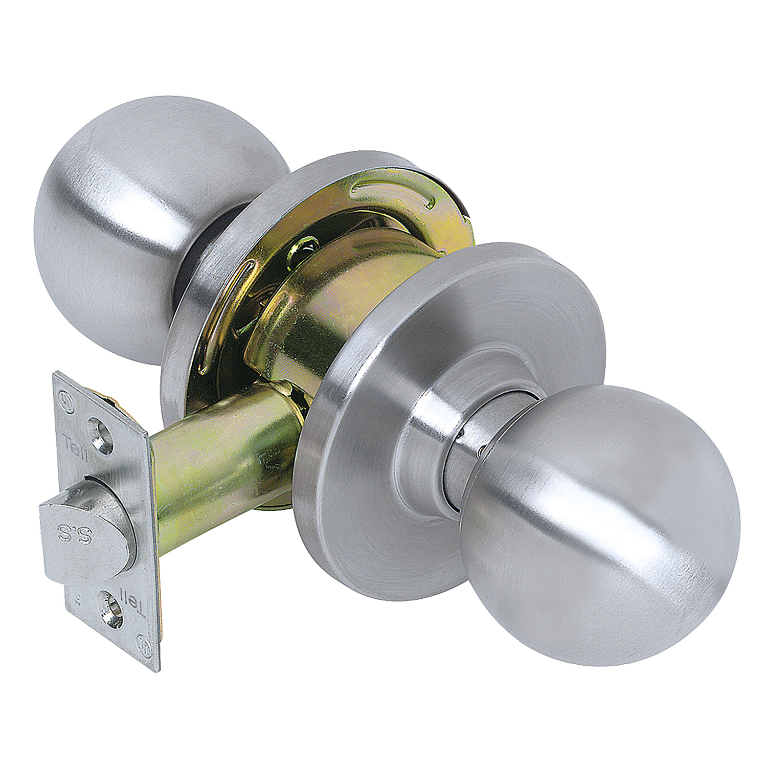 Tell Manufacturing CL100002 Satin Stainless Steel Heavy-Duty Commercial Passage Knob