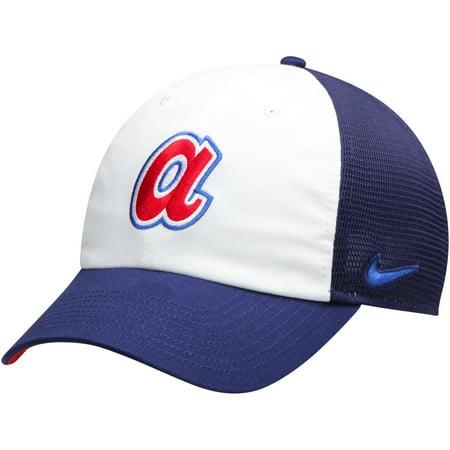 ef67d8e7b7d37 Atlanta Braves Nike Heritage 86 Team Trucker Adjustable Hat - White Navy -  OSFA - Walmart.com