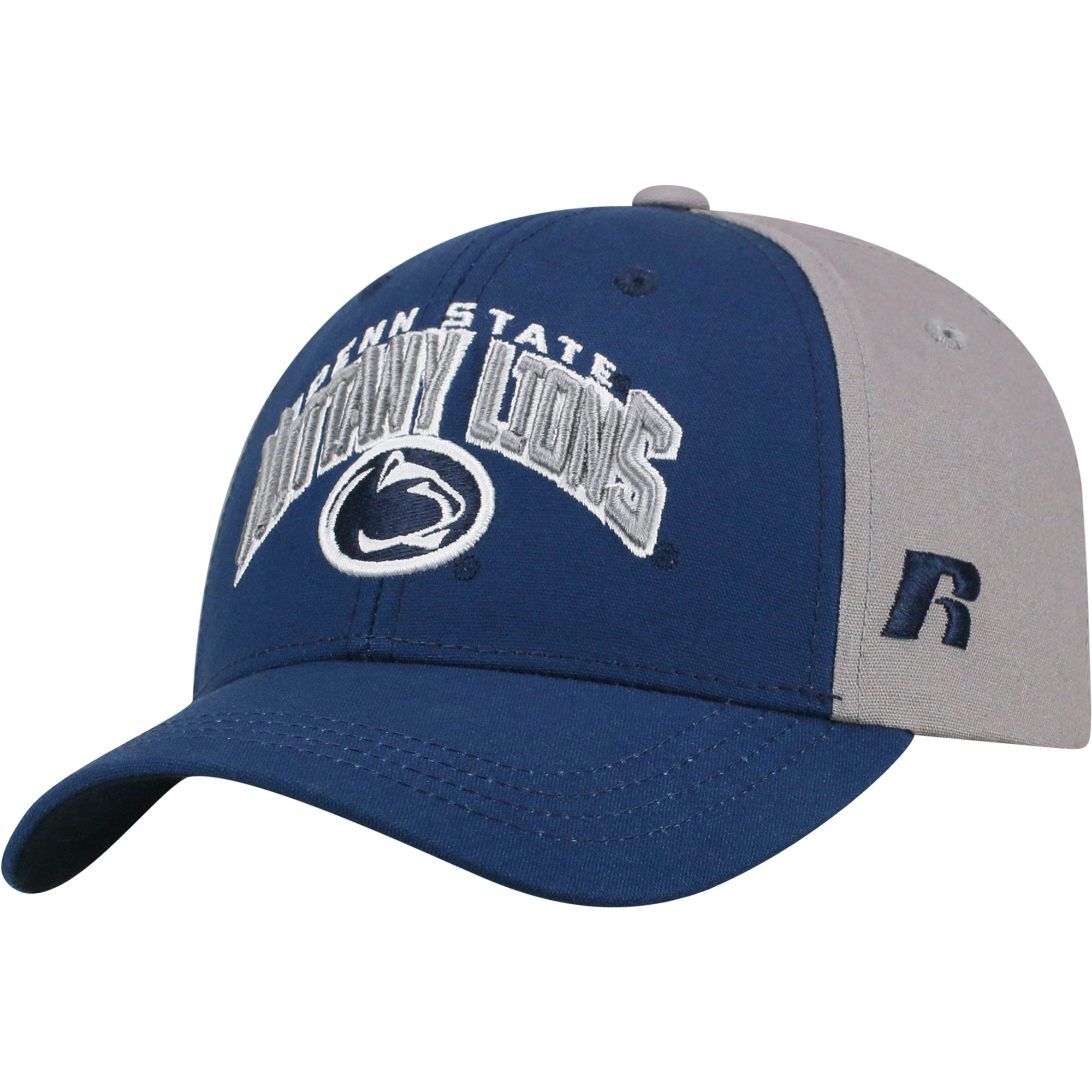 Youth Russell Navy/Gray Penn State Nittany Lions Tastic Adjustable Hat - OSFA
