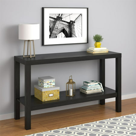 Mainstays Parsons Console Table Black Oak