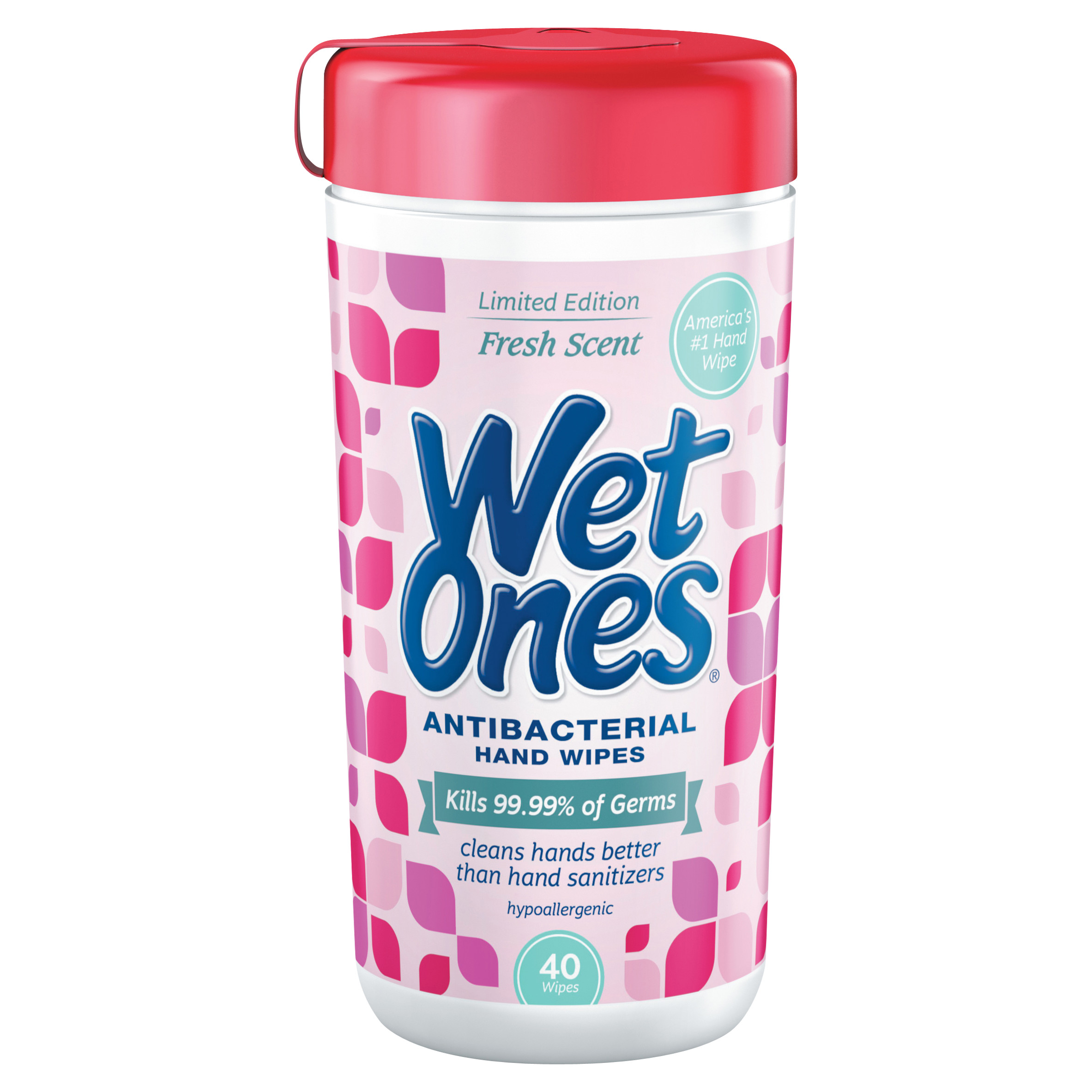 Wet Ones Antibacterial Hand Wipes Fresh Scent Canister - 40 Coun