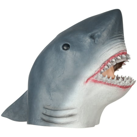 Loftus Realistic Shark Halloween Full Head Mask, Blue White, One Size - Halloween Jack In The Box Head