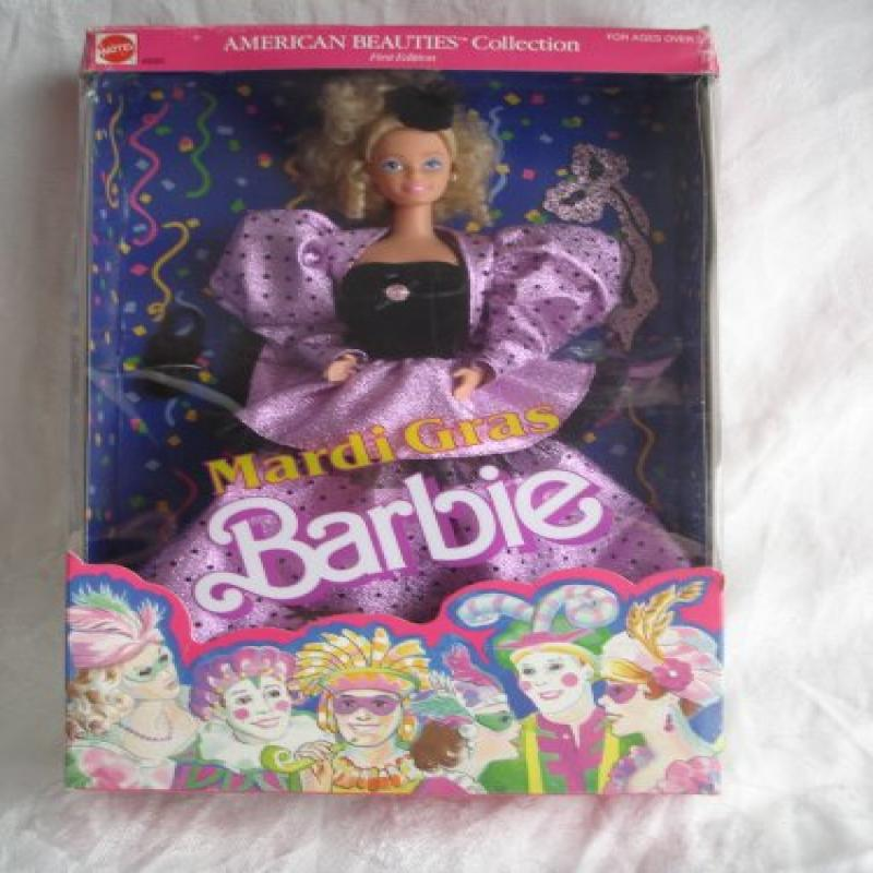 Mardi Gras Barbie Doll American Beauties Collection First Edition 1987 Mattel by