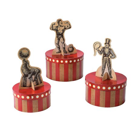 Fun Express - Vintage Circus Centerpiece for Party - Party Decor - General Decor - Centerpieces - Party - 3 Pieces - Carnival Centerpieces