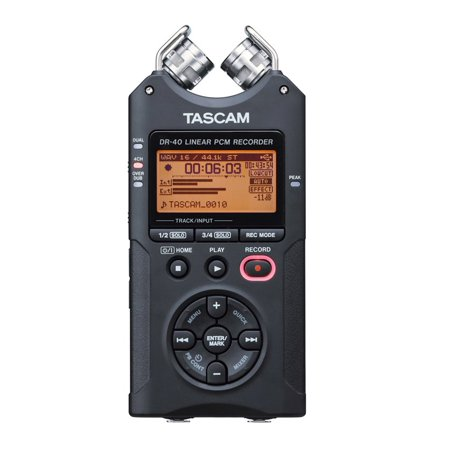Tascam DR-40 4 Track Linear PCM Handheld Portable Audio Recorder w/ 2GB SD
