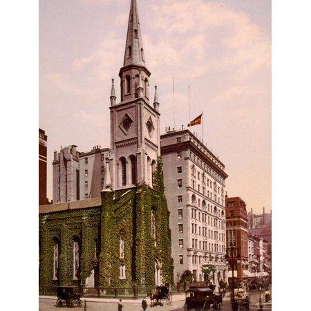 Marble Collegiate Church and Holland House, New York Print Wall Art